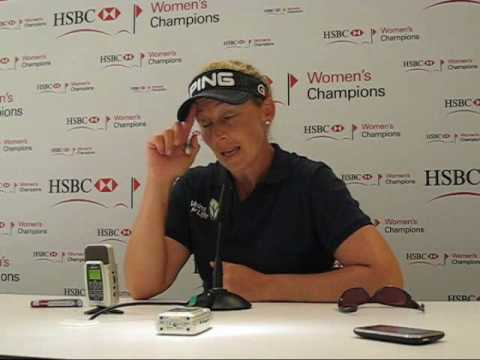 Angela Stanford leads the field for 2 days in a row at the HSBC Women's Champions Video