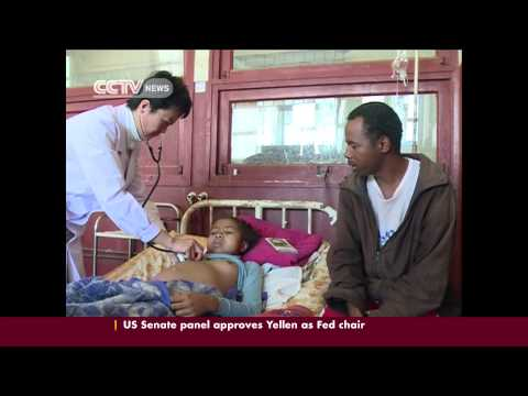 Chinese medical team endure hardship to serve patients