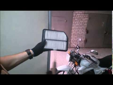 Продувка воздушного фильтра двигателя.VLGavto