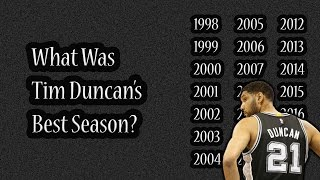 What Was Tim Duncan's Best Season?