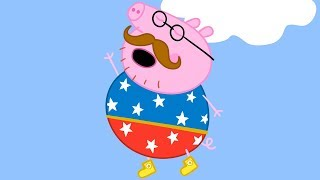 Peppa Pig Nederlands Compilatie Nieuwe Afleveringen | Vaderdag met Daddy Pig! | Tekenfilm