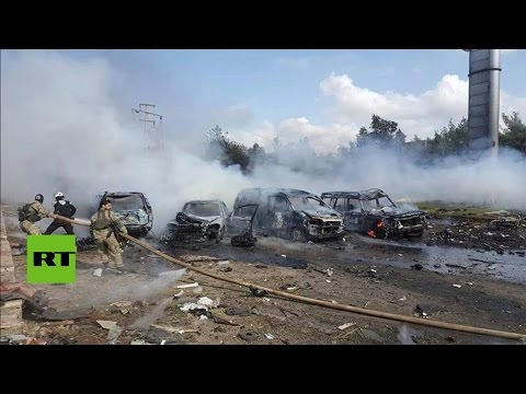 Decenas de muertos en una explosión contra un convoy de autobuses cerca de Alepo