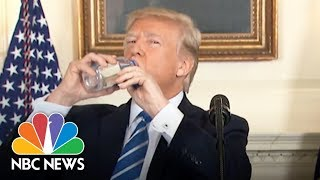President Donald Trump Vs. Marco Rubio: Awkward Water Bottle Moments | NBC News