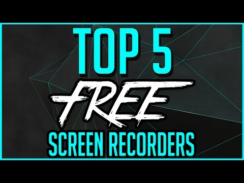 Top 5 Best FREE Screen Recording Software 2016-2017
