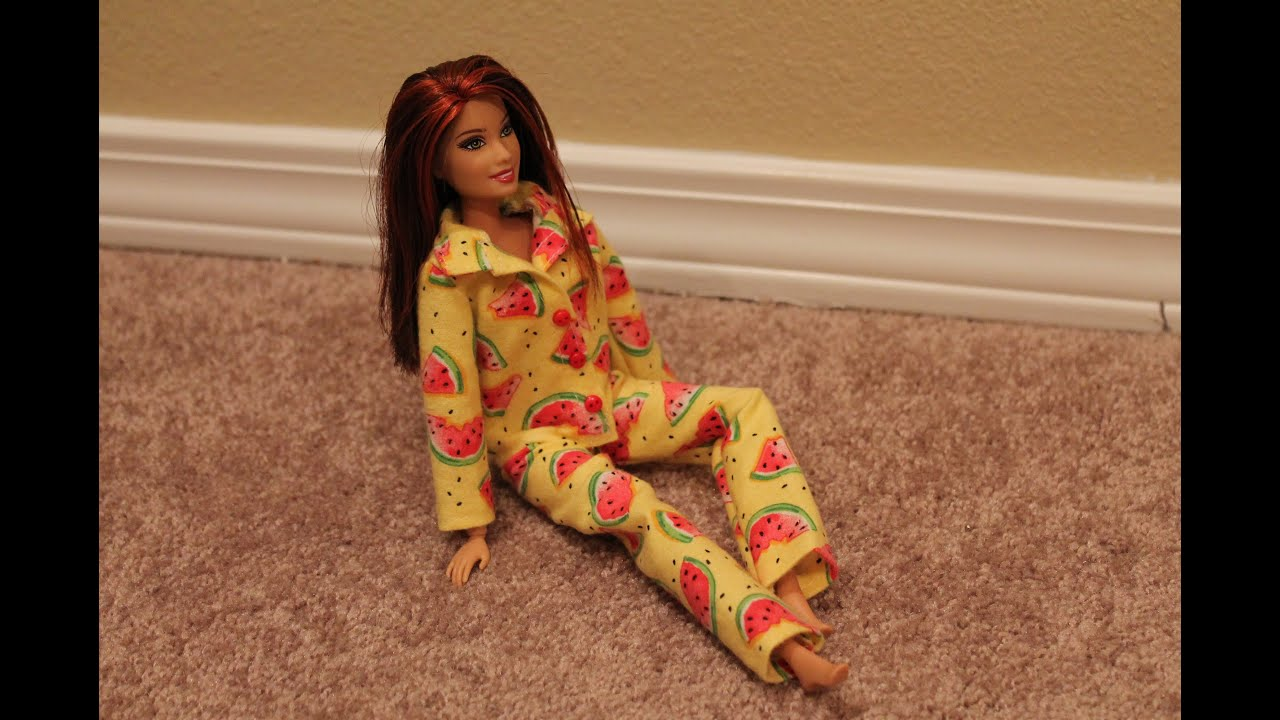 Пижама для куклы своими руками 6