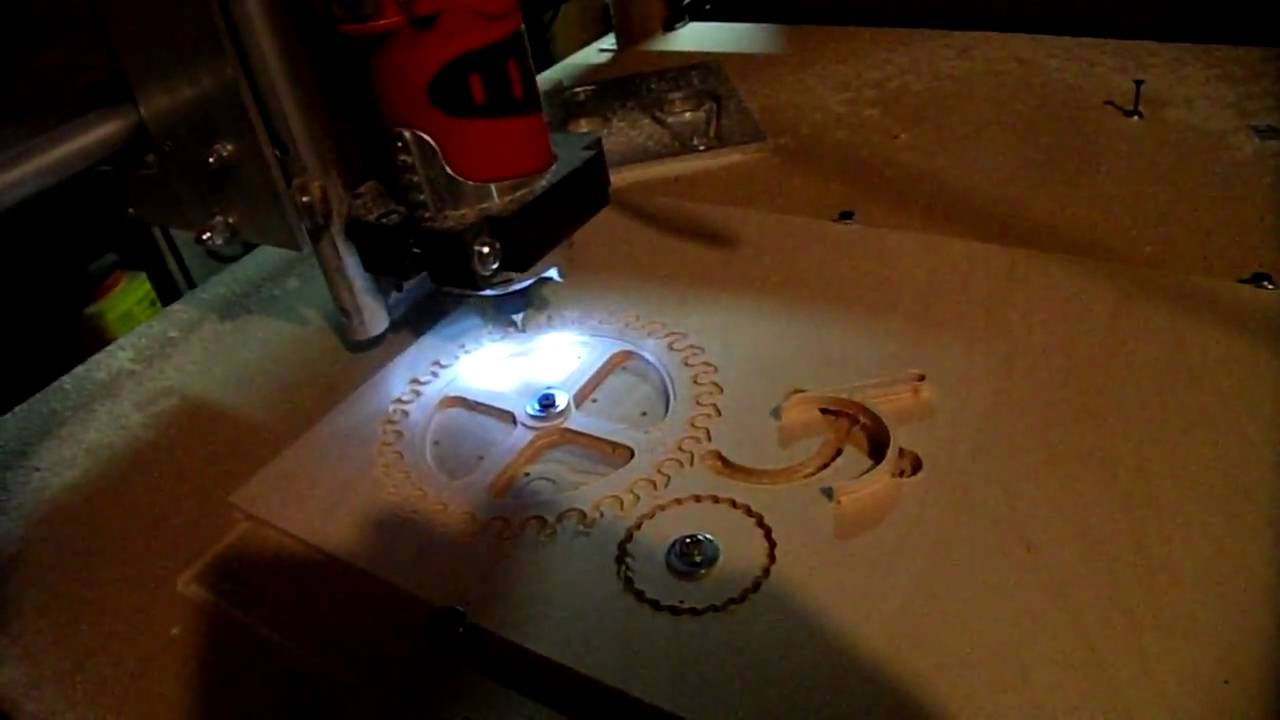 Home Made Cnc Router Cutting Escapement And Rachet Gears