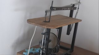 Making a Homemade Scroll Saw ( Build video )