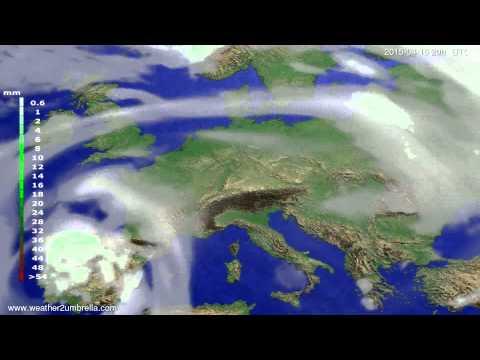 Precipitation forecast Europe 2015-04-12