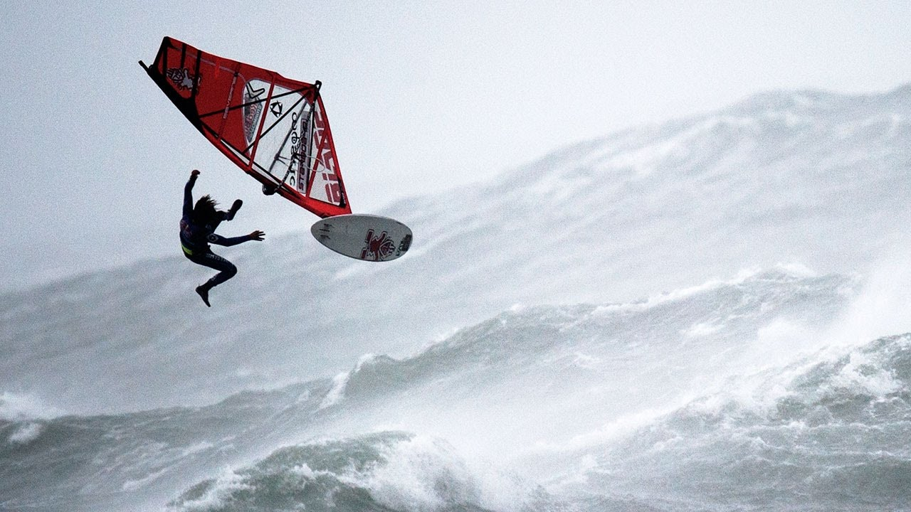 Windsurfing On The Roughest Seas Imaginable