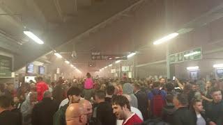 Wigan v Liverpool 2017 Half time flare