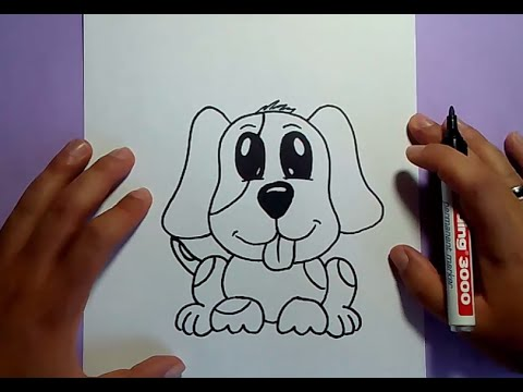 Como dibujar un perro paso a paso 23   How to draw a dog 23
