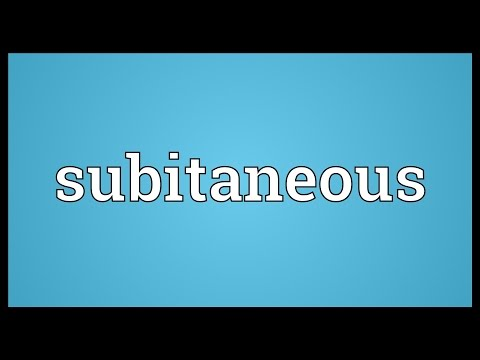 Header of subitaneous