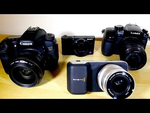 SUPER SHOOTOUT - BMPCC vs GH3 vs 70D vs RX100 - BlackMagic Pocket Cinema Camera Review