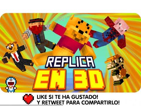 REPLICA EN 3D! | Minecraft Blitz Build con Exo, Macundra, Sarinha y Luh