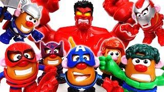 Mr. & Mrs. Potato Are In Danger~! Go Potato Heads Avengers - ToyMart TV