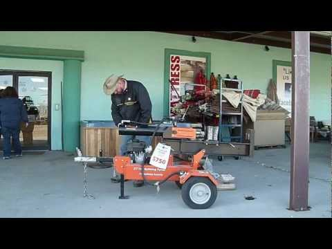 Salvage World Hattiesburg log spliter in action