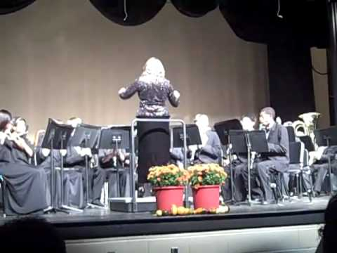 Maurice J McDonough High School Concert Band featuring Kristen Burke on the drums.