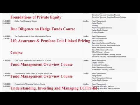 Asset Management Courses / Investment Management Training
