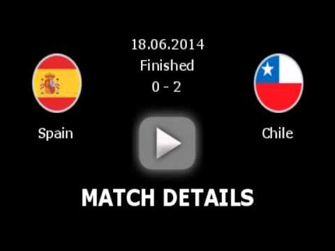 Spain 0 - 2 Chile Goals World Cup 2014