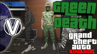 GTA 5 Online | How To Create The Green Death Tryhard Outfit 1.44 *RNG* (GTA 5 Online Glitches)