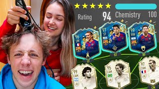 194 RATED FUT DRAFT or MY SISTER SHAVES MY HEAD!! - FIFA 20