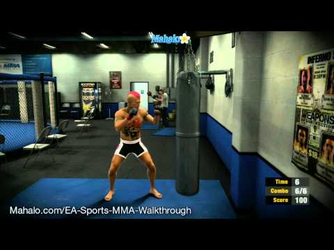 EA Sports MMA Career – Training before 1st Pro fight