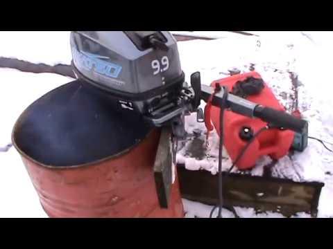 обкатка лодочного мотора ниссан видео