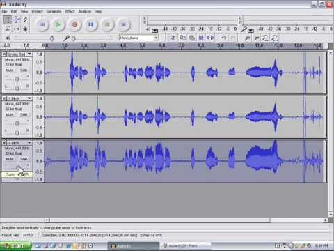 how to make a voice recording using audacity