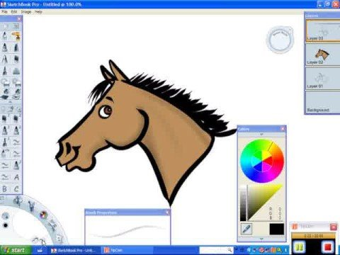 How To Draw A Cartoon Horse With A Bridle Digital Drawing Youtube
