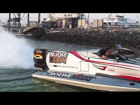 F1 Formula One Testing in Dubai Marina (Team Victory/Skydive Dubai)