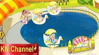 Đồ chơi trẻ em BÚP BÊ KN Channel ĐI CÔNG VIÊN TRÒ CHƠI tập 2 | CHƠI ĐẠP VỊT