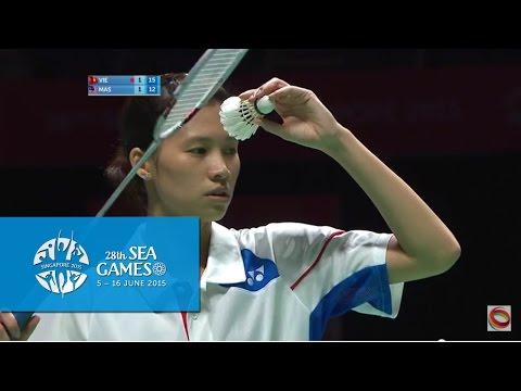 Badminton Women's Team Vietnam vs Malaysia Match 2 (Day 5) | 28th SEA Games Singapore 2015