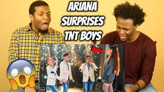 Ariana Grande Surprises TNT Boys f/ 'The World's Best' (THEY CRIED!!) REACTION