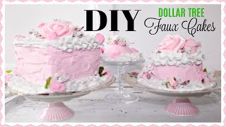 🍰 DIY DOLLAR TREE FAUX CAKE TUTORIAL 🍰HOW TO MAKE A FAKE CAKE ON A BUDGET