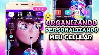 Organizando e Personalizando meu celular Samsung 👉🏻Tati Raz [Pinterest]