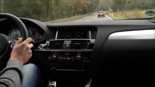 2017 BMW F26 X4 M40i Fast Driving Onboard Video