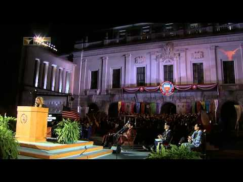 Sanya Richards-Ross delivers UT commencement address [May 18, 2013]