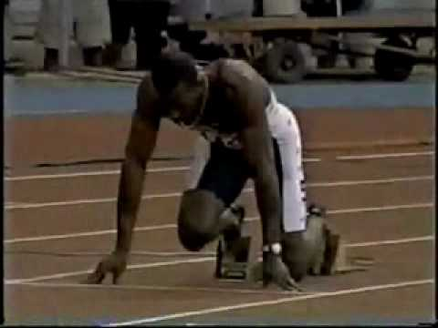 Michael Johnson 400m World Record  43.18
