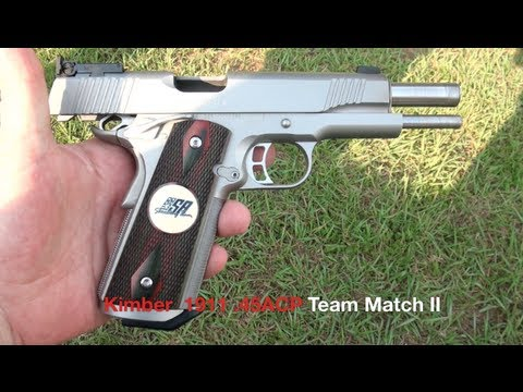 Kimber 1911 .45 ACP Shooting Action