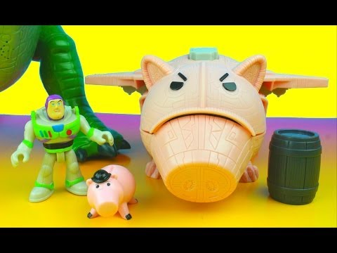 Disney Pixar Toy Story Imaginext Evil Dr. Porkchop's Spaceship Buzz Lightyear & Rex video