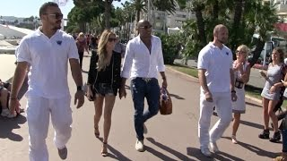 EXCLUSIVE - Sylvie Meis and new boyfriend walk hand by hand on La Croisette in Cannes Part 2