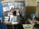 Fresco painting from start to finish thru timelapse  photography
