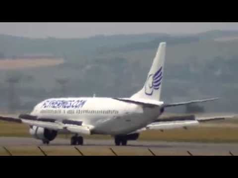 Metz-Nancy-Lorraine airport plane spotting landing June 13th 2014