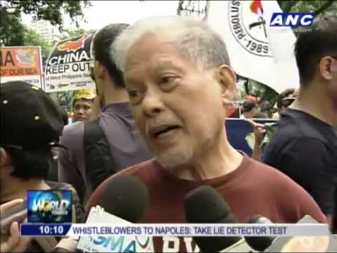 Filipinos Unite   ANC Hundreds protest China's 'bullying' of Philippines