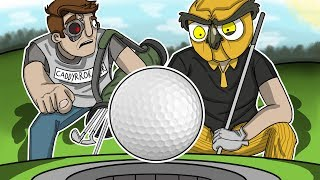TEACHING VANOSS HOW TO PLAY GOLF! (Golf It Funny Moments)