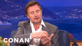 When Liam Neeson Forged Ray Fiennes' Autograph - CONAN on TBS