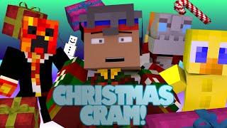 Minecraft | 4v4 Christmas Chaos! | CHRISTMAS CRAM CHALLENGE (Minecraft Christmas Minigame)