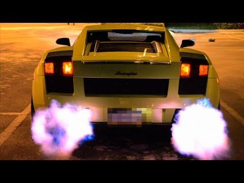 Lamborghini Shooting Flames (Twin Turbo Gallardo)