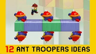 12 Ideas with Ant Troopers - Super Mario Maker 2