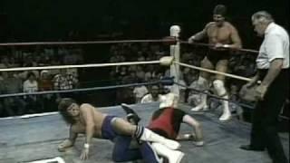 USWA - Chris Von Erich and Chris Adams vs Steve Austin and Percy Pringle (part 1)